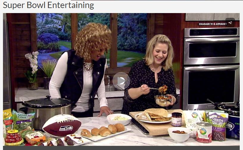 KATU Afternoon Live Chef Kirsten Healthy Simple Super Bowl Feast
