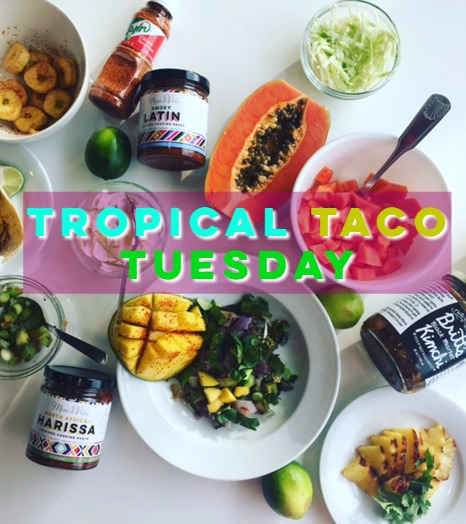 Healthy Tropical Taco Toppings