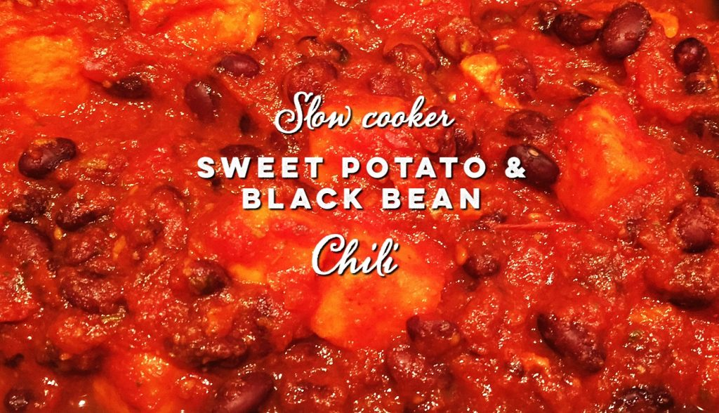 Slow cooker Sweet potato and black bean chili
