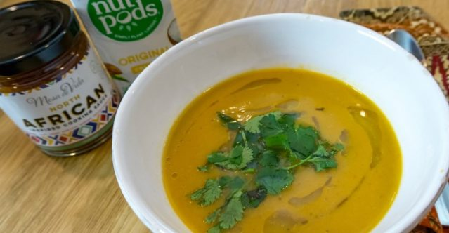 Creamy North African butternut squash bisque image