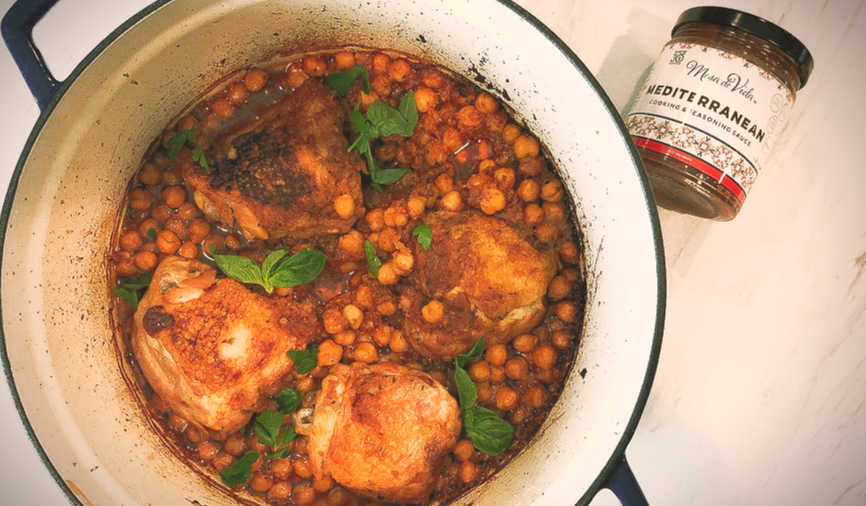 Chicken and chickpea cassoulet recipe