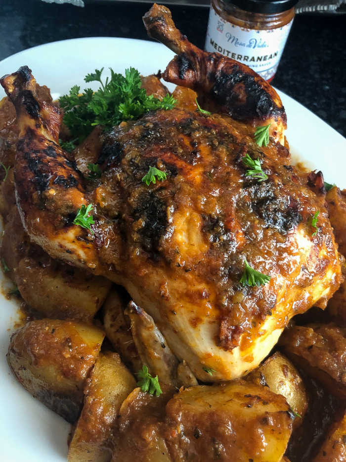 Mediterranean roasted chicken and potatoes recipe