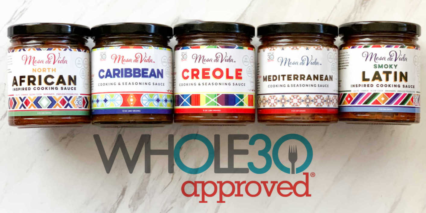 Mesa de Vida Whole30 cooking and seasoning sauces