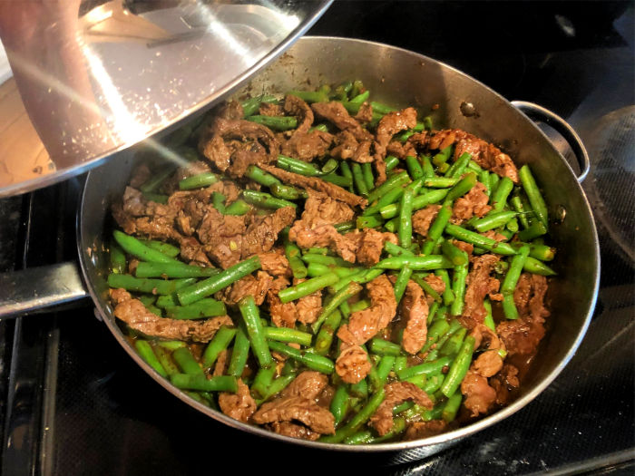 Healthy Caribbean Beef and Green Bean Stir Fry recipe.