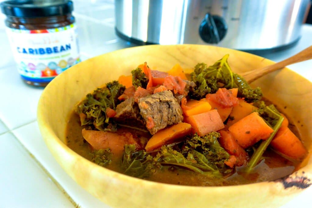 bowl of Caribbean spicy beef stew