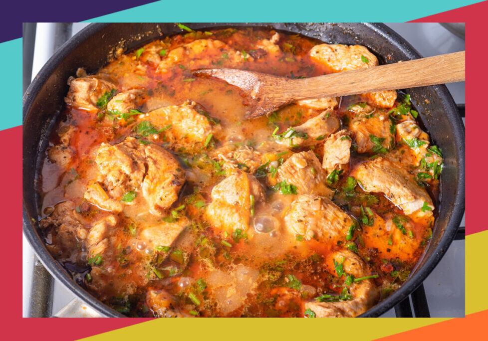 Saucy braised chicken skillet with Mesa de Vida