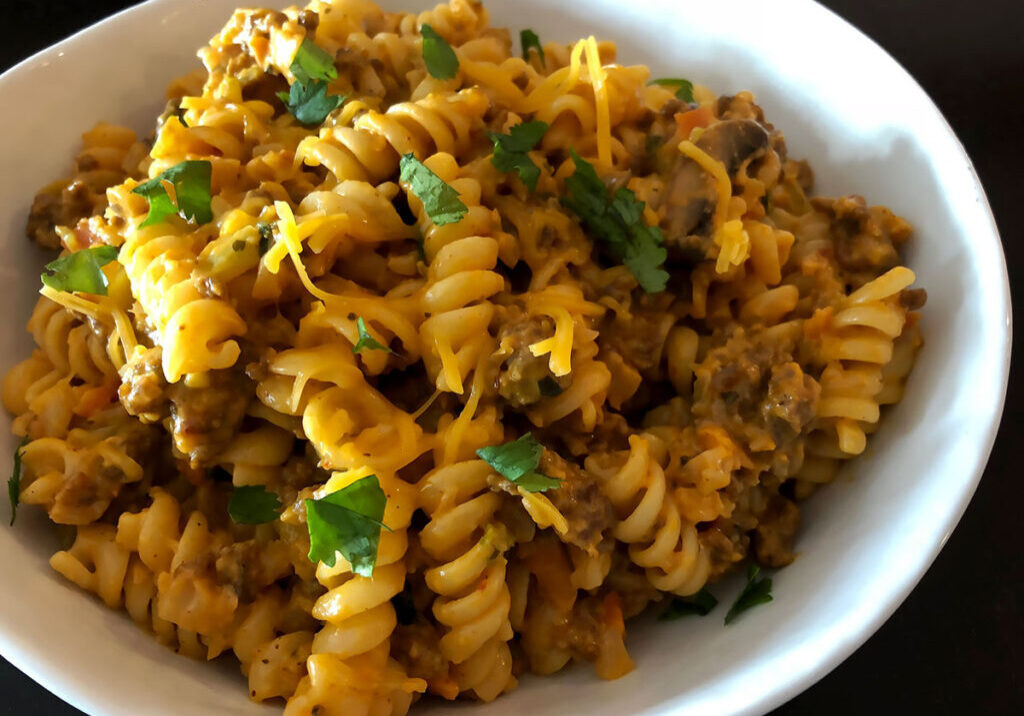 Healthy taco hamburger helper recipe